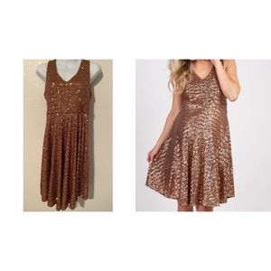Pink Blush sequin maternity cocktail dress size S